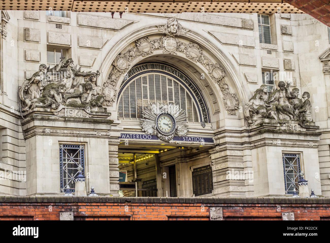 Waterloo station in London - Stock Image