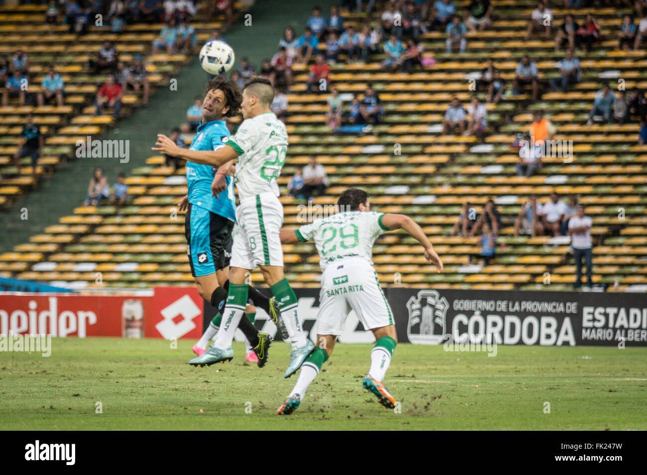Cordoba, Argentina. 5th March, 2016. Maximiliano Caire, Defense de Club Atletico Sarmiento during a match between - Stock Image