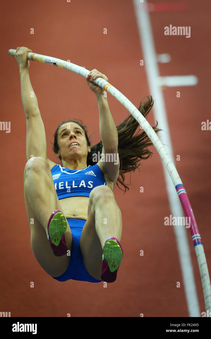 Ekaterini Stefanidi of Greece competes in the Women's Pole Vault - Stock Image