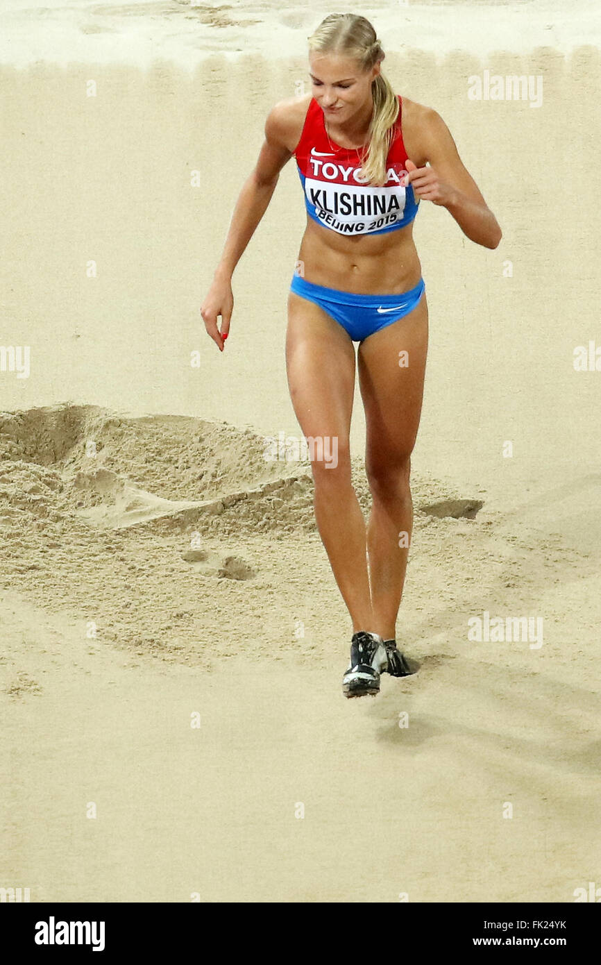 Darya Klishina at the IAAF World Championships, Beijing 2015 - Stock Image