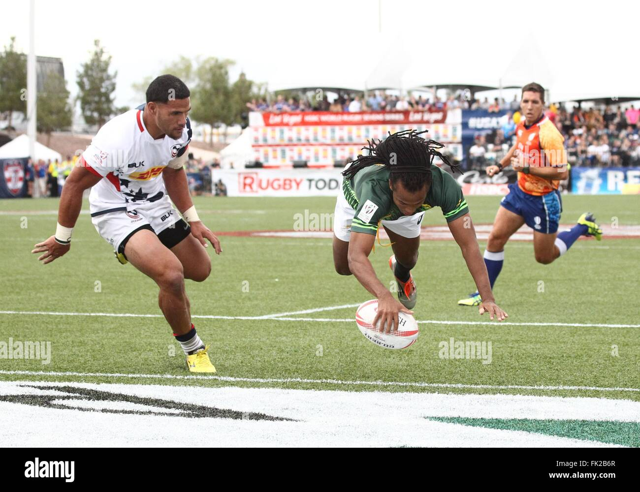 Las Vegas, NV, USA. 5th Mar, 2016. Cecil Afrika of South Africa in attendance for USA Sevens International Rugby - Stock Image