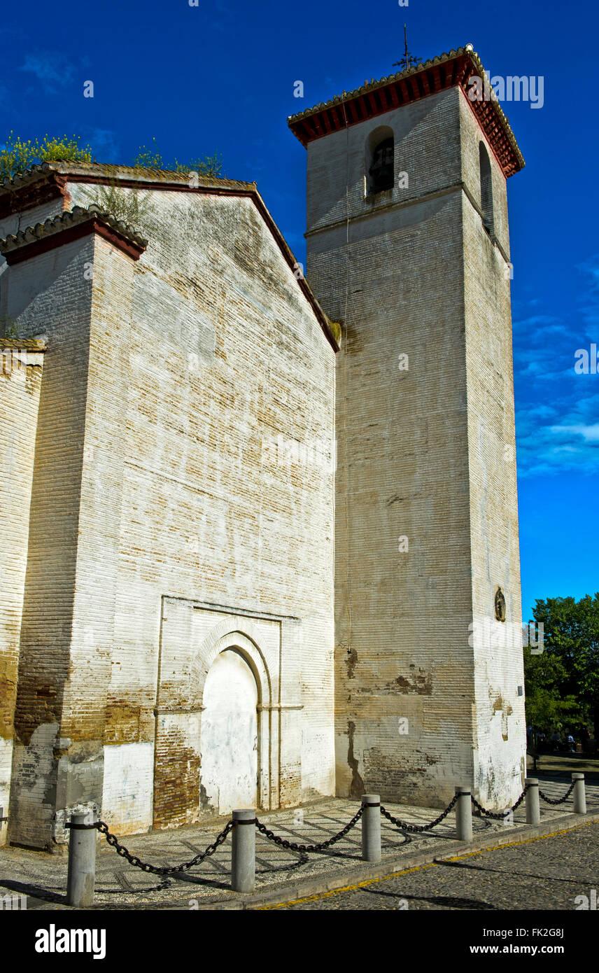 San Nicolas church in the Albaicin quarter, Granada, Spain - Stock Image
