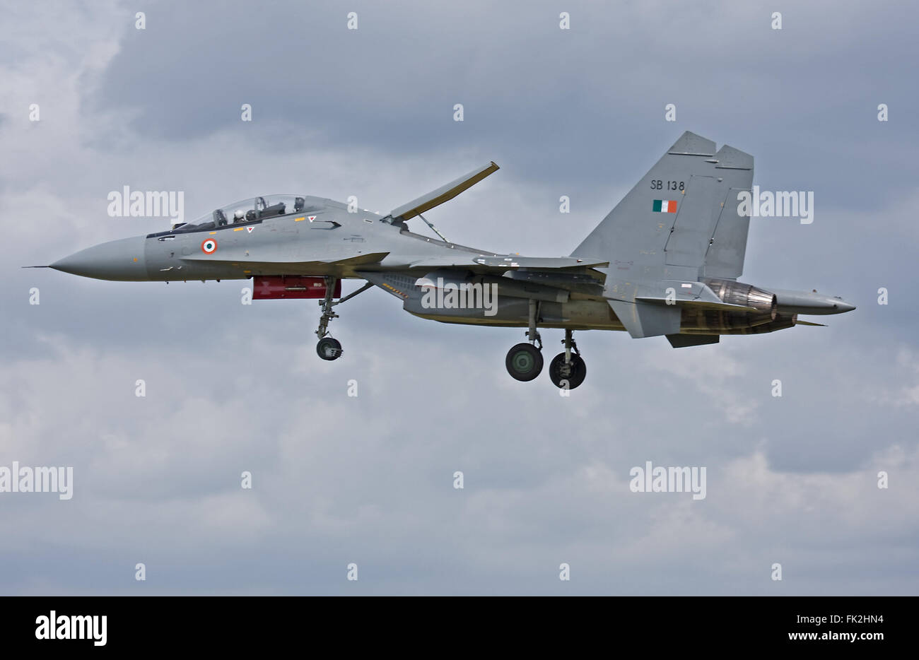 Indian Air Force Sukhoi SU-30MKI 'Flanker' - Stock Image