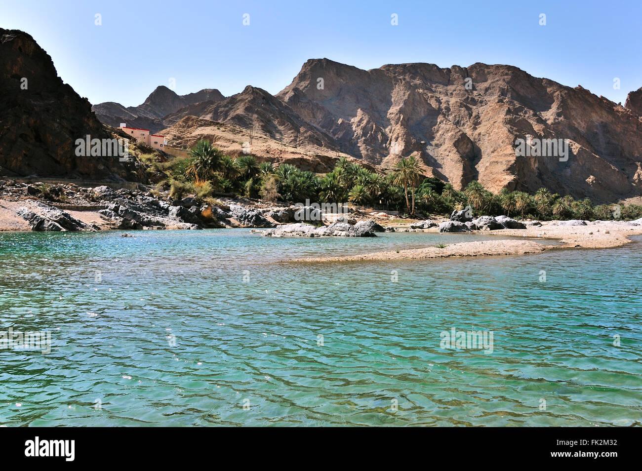 Wadi Arbie, near Fins, Sultanate of Oman - Stock Image