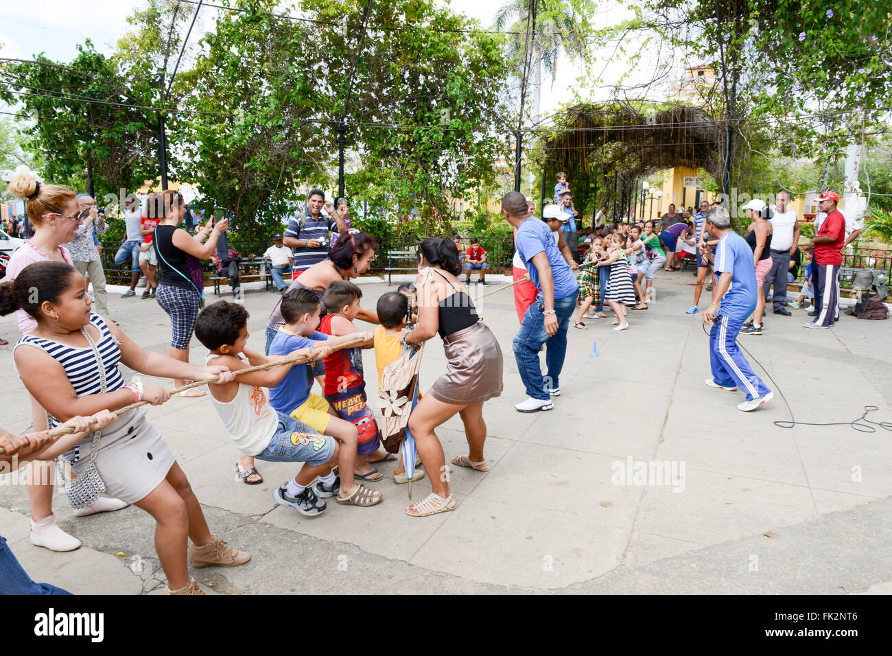 Trinidad, Cuba - 9 january 2016: elementary school children playing with the supervision of the teachers in the - Stock Image