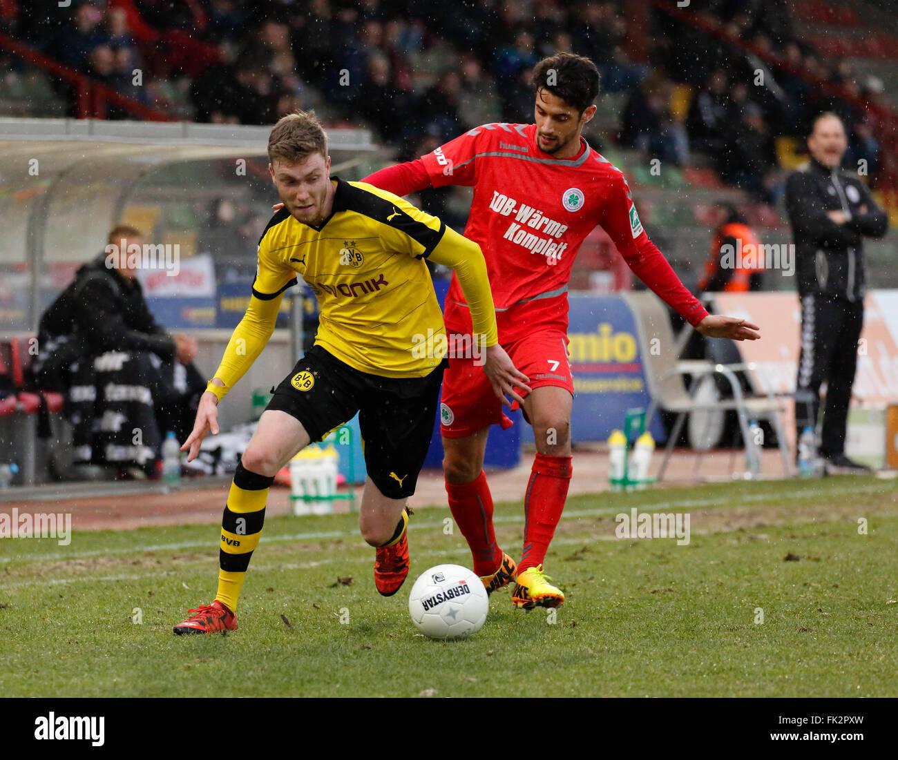 sports, football, Regional League West, 2015/2016, Rot Weiss Oberhausen versus Borussia Dortmund U23 3:1, Stadium - Stock Image