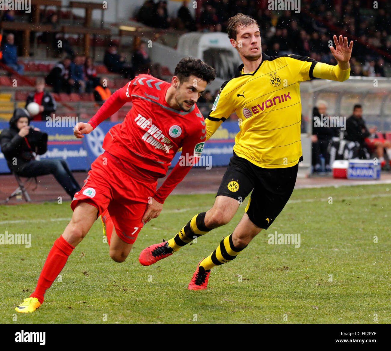 sports, football, Regional League West, 2015/2016, Rot Weiss Oberhausen versus Borussia Dortmund U23 3:1, Stadium - Stock Image
