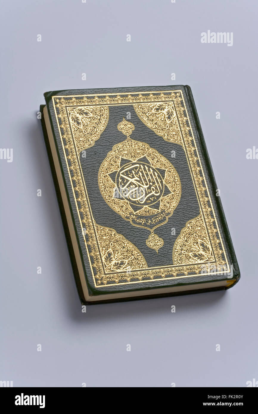 Holy Koran Book Of The Islam Religion - Stock Image