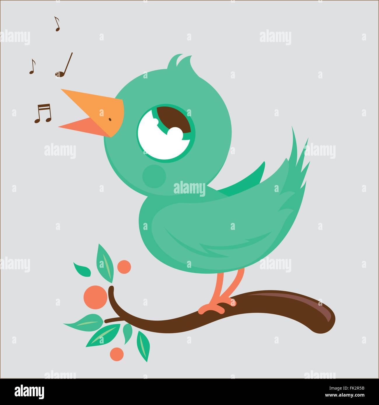 songbird stock vector images alamy rh alamy com Single Music Notes Music Note Clip Art