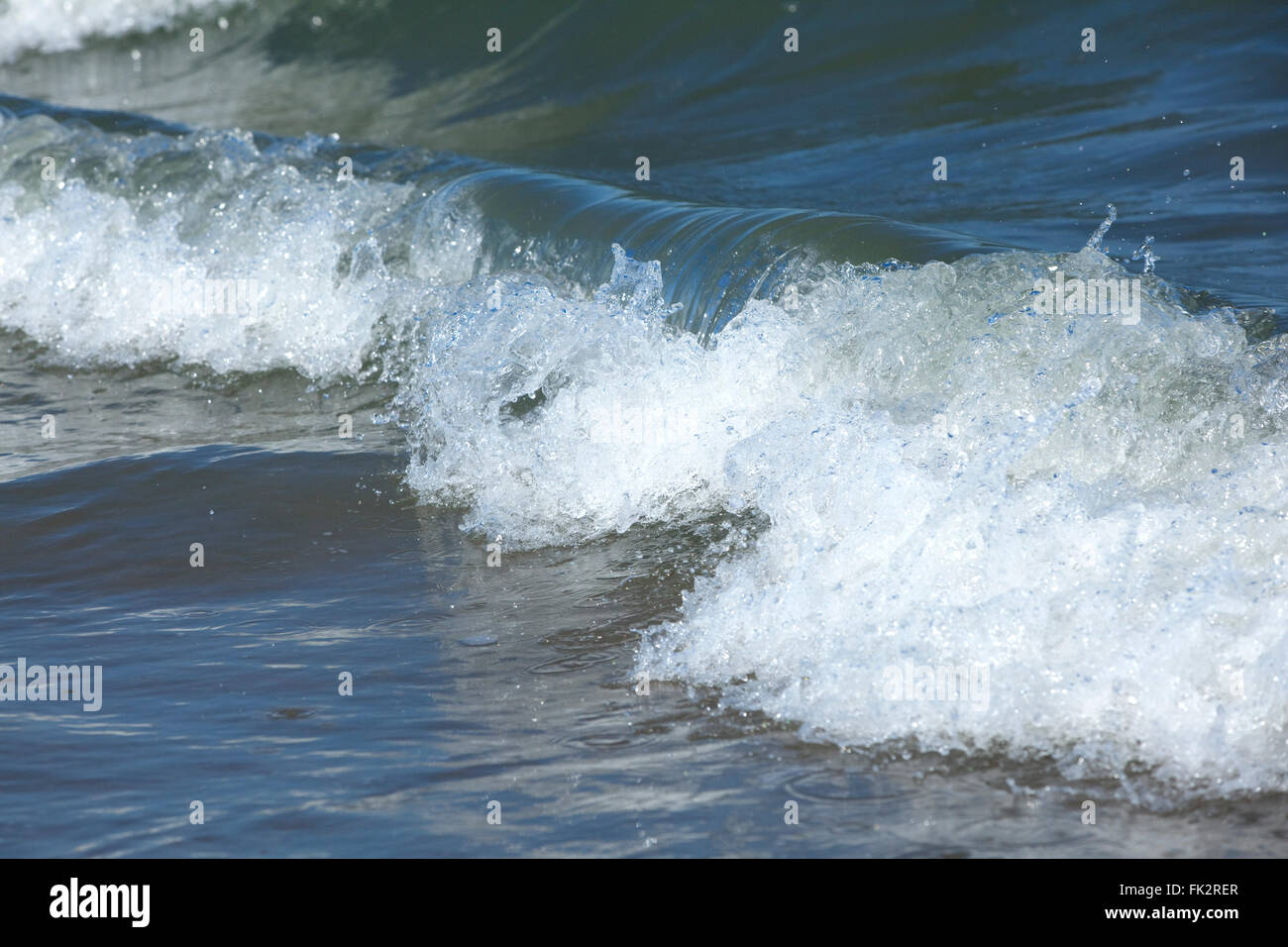 Sea waves of the North Sea - Stock Image