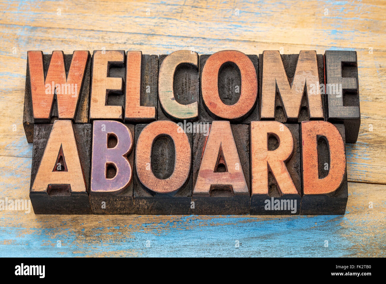 Welcome Word In Vintage Letterpress Stock Photos Welcome Word In