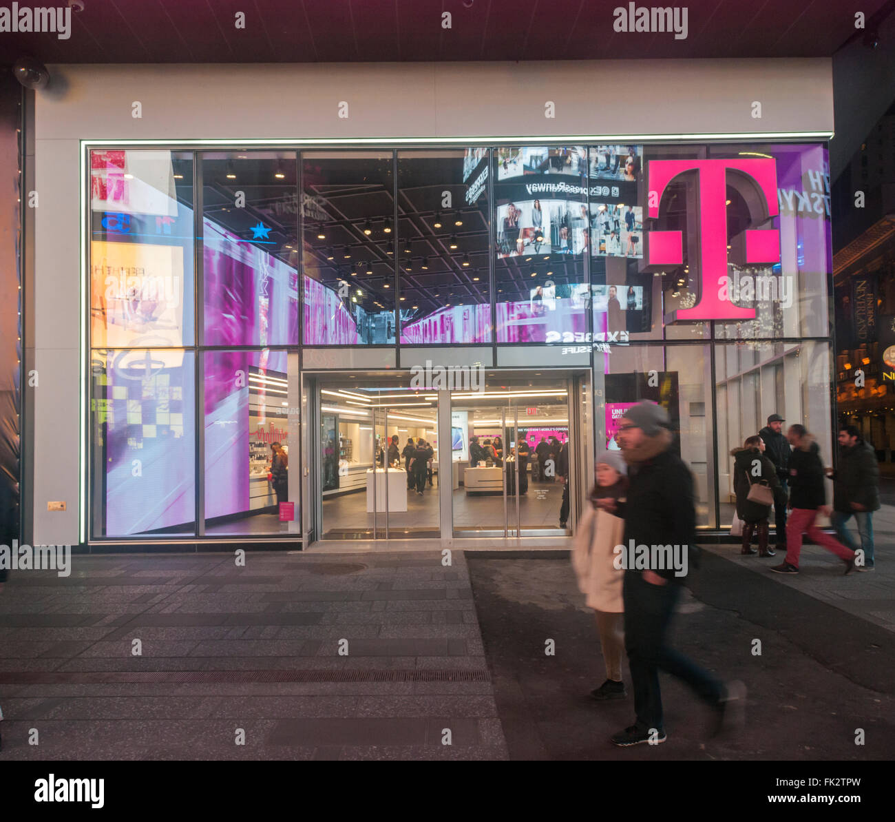 A spanking brand new T-Mobile mobile phone store opens in