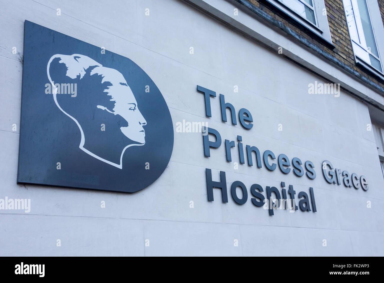 The Princess Grace Hospital, Marylebone Road, London, UK - Stock Image