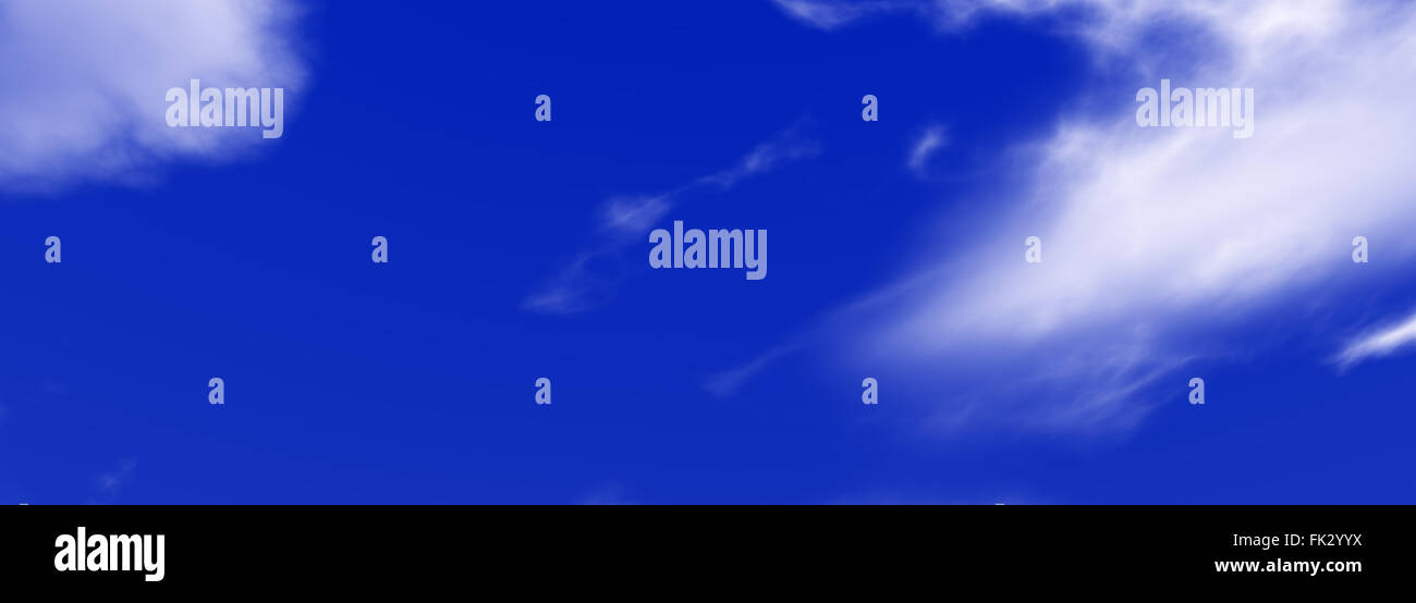 blue sky with clouds panorama - Stock Image