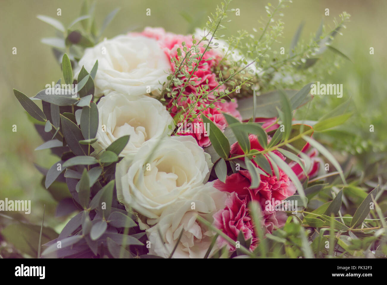 Vintage bouquet stock photos vintage bouquet stock images alamy vintage bouquet with white and marsala flowers stock image izmirmasajfo