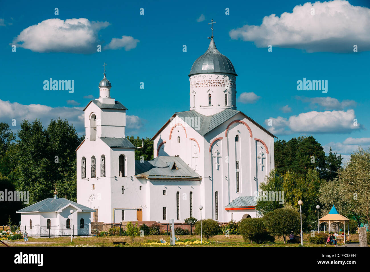St. Alexander Nevsky Church in Gomel, Belarus. Orthodox Church. Stock Photo