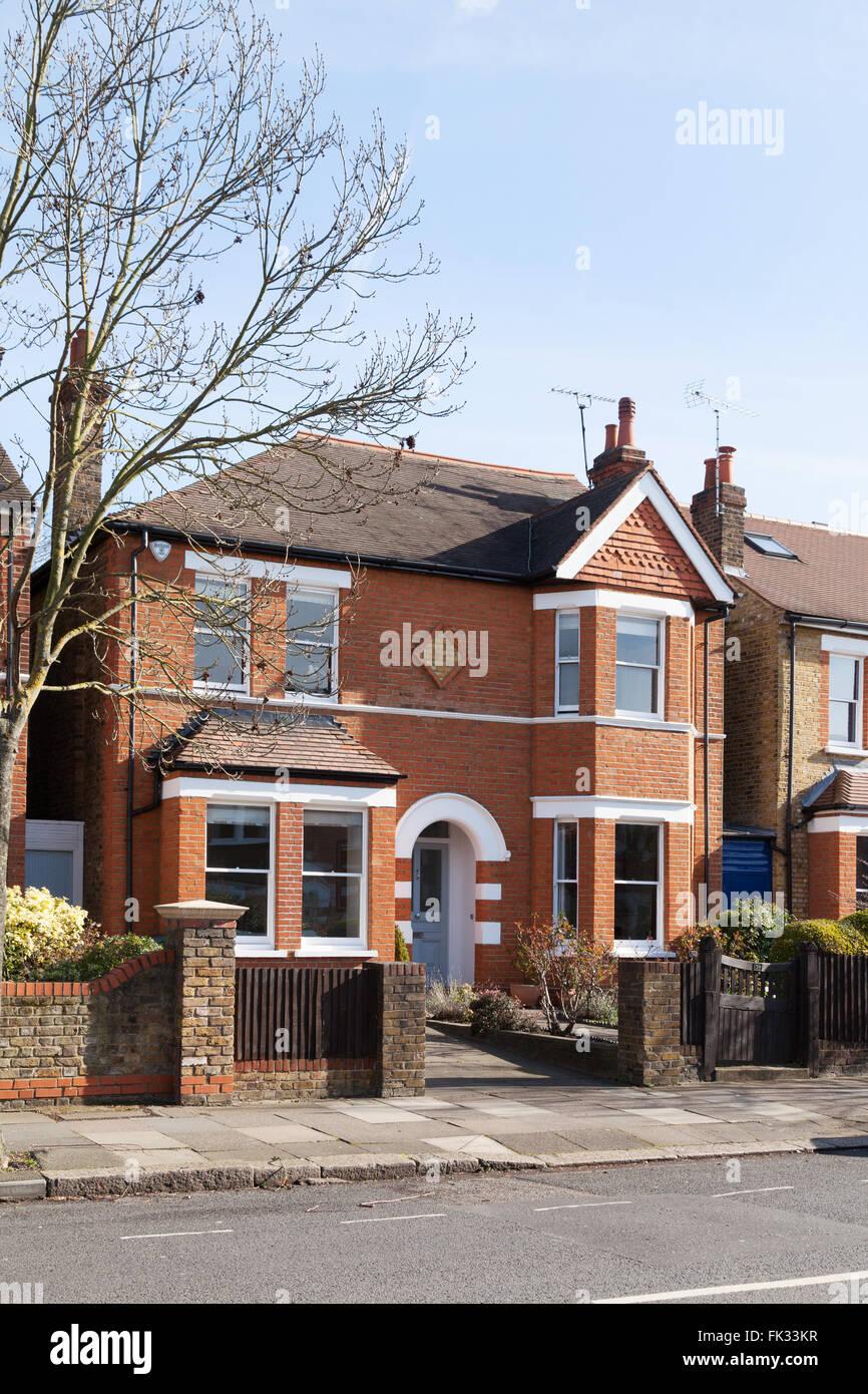 Detached house, Ealing, West London, UK - Stock Image
