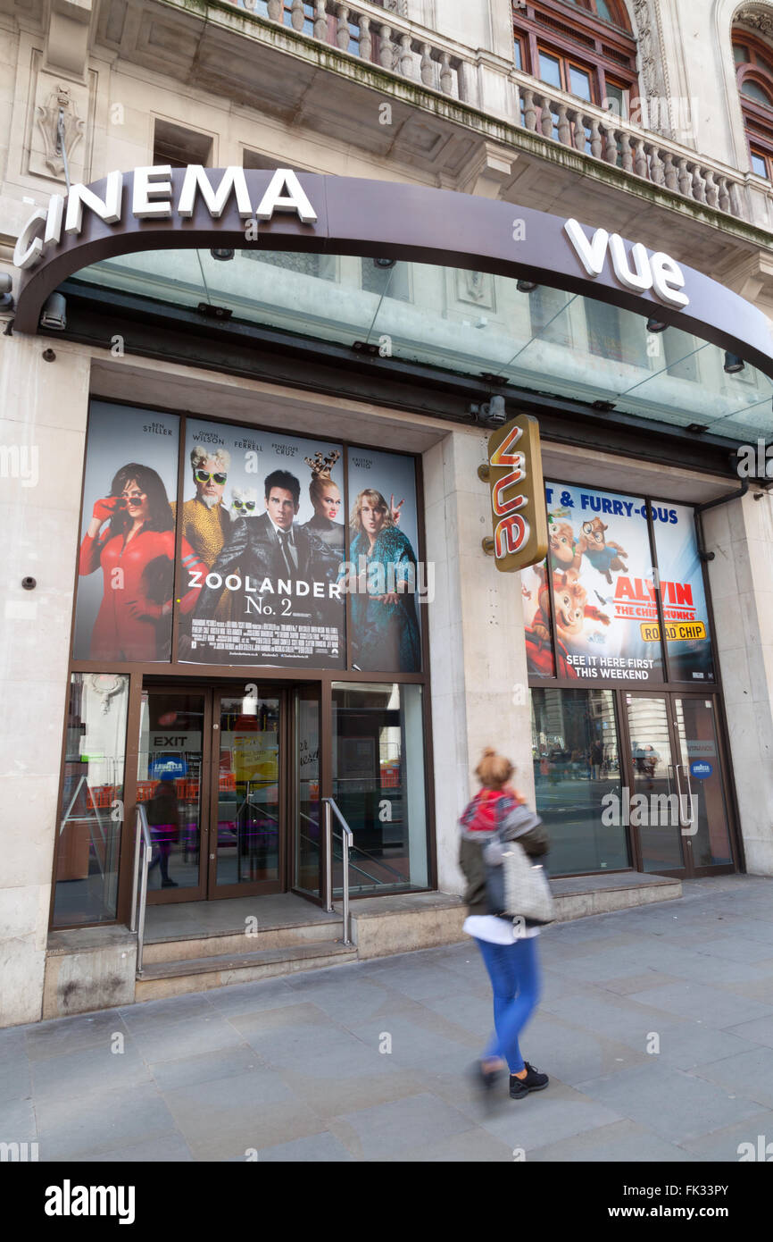 The Vue cinema, Regent St., Piccadilly , London - Stock Image