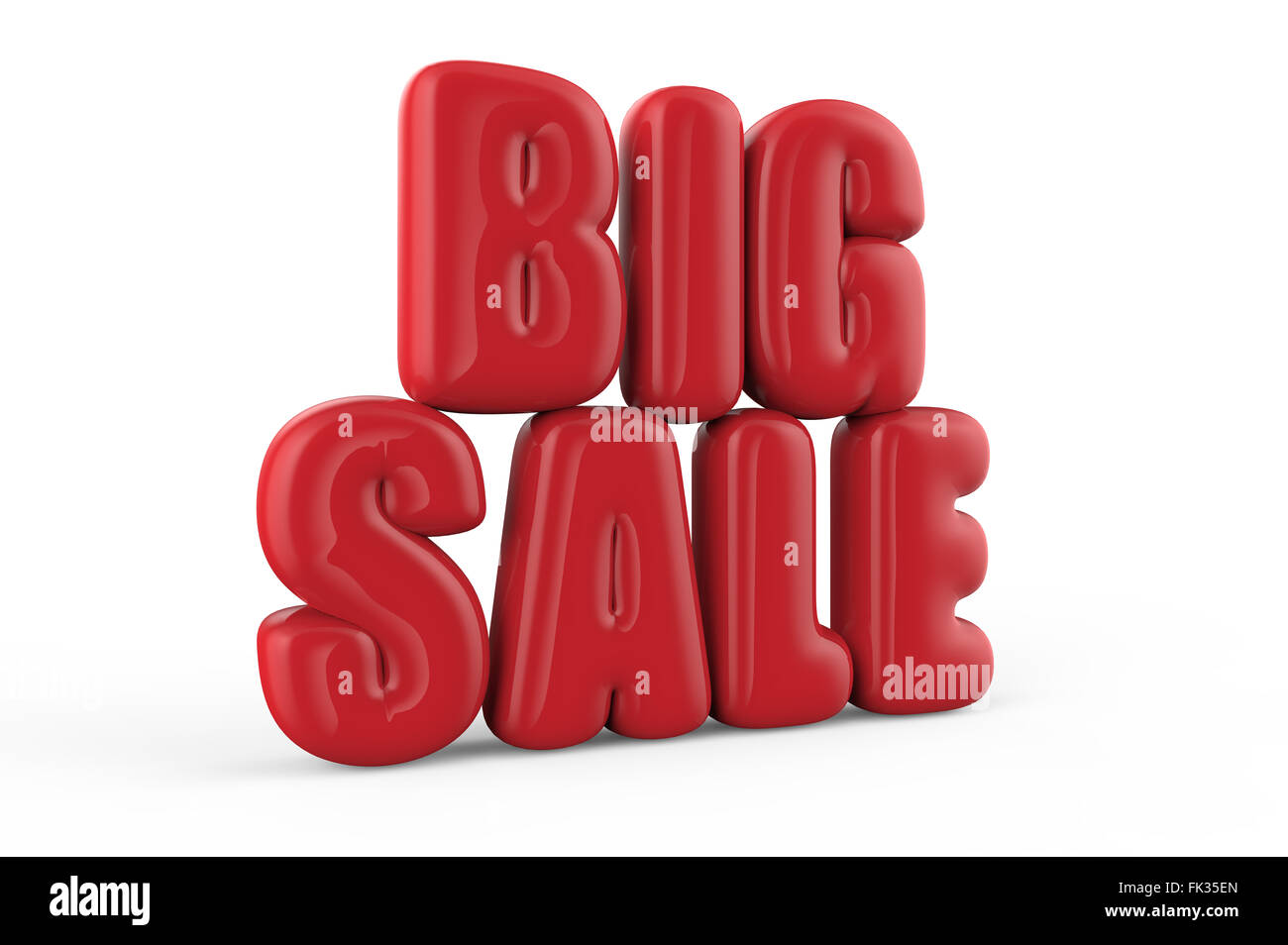 Big Sale Red Text Like Balloons Isolated On A White Background Stock