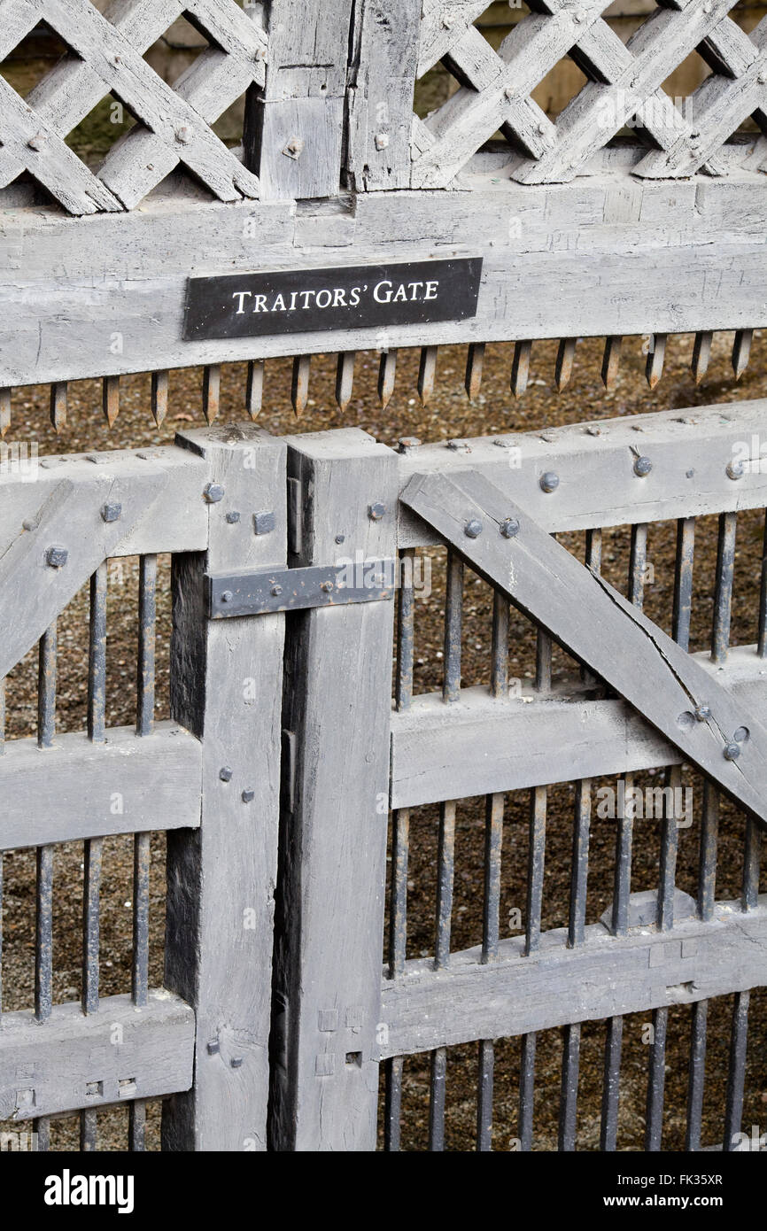 Traitors Gate The Tower of London City of London England - Stock Image