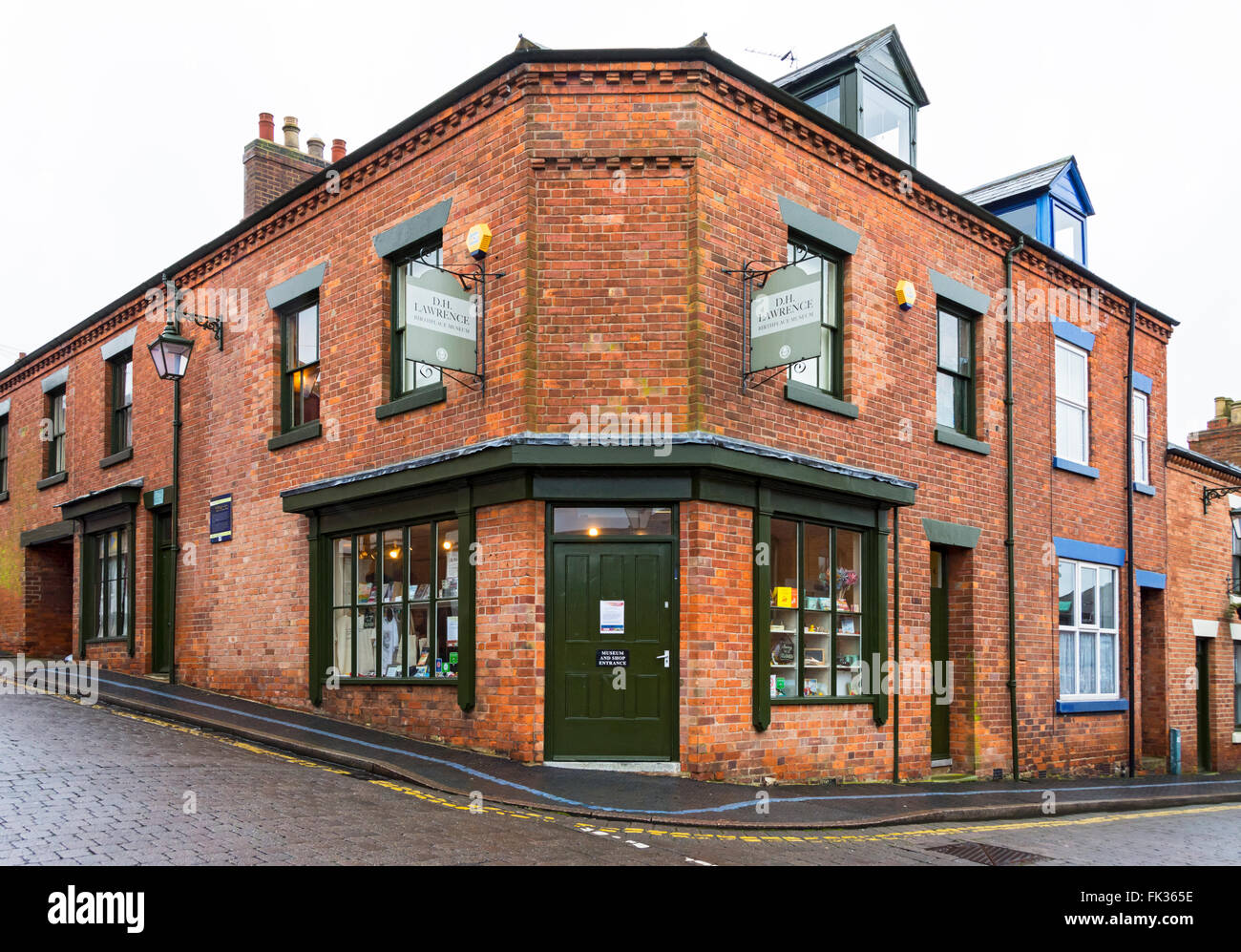 The D.H. Lawrence Birthplace Museum, Eastwood, Nottinghamshire, England, UK. The childhood home of the author. - Stock Image
