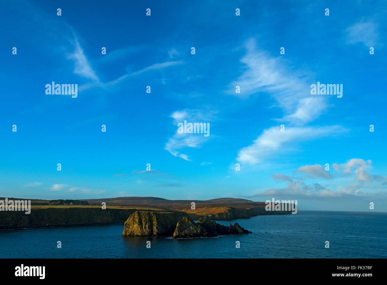 Dunnet Head from the coastal path at Brough Bay, Caithness, Scotland, UK - Stock Image