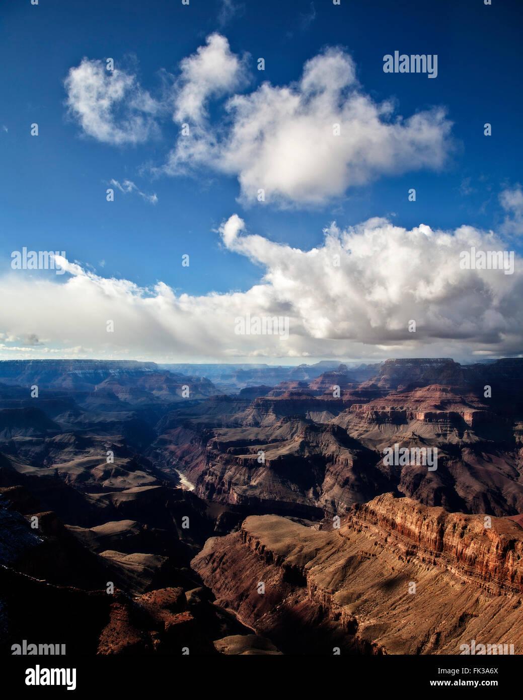 Scene from Lipan Point, Grand Canyon south rim, Arizona Stock Photo