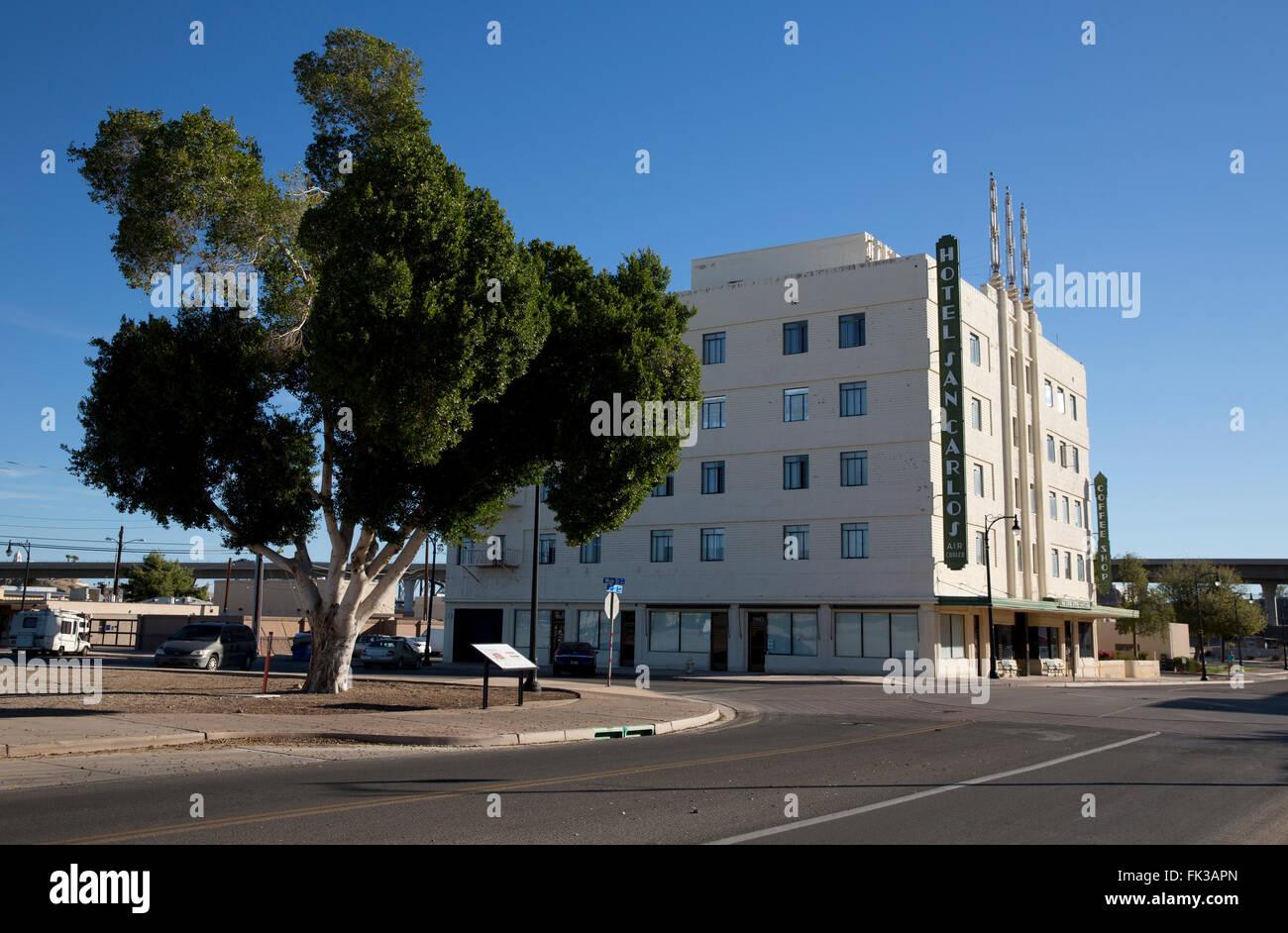 hotel san carlos yuma arizona usa stock photo 97804637. Black Bedroom Furniture Sets. Home Design Ideas