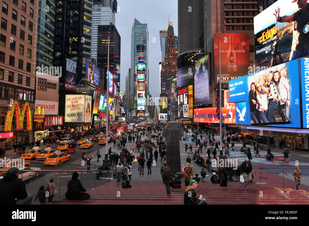 NEW YORK CITY, NY, USA - MARCH 2011: Times Square, New York City, one of the busiest and crowded streets in Manhattan - Stock Image