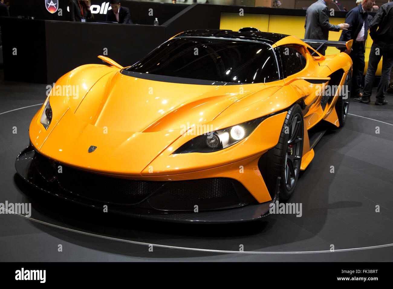 Apollo Arrow supercar at the Geneva Motor Show 2016 Stock Photo
