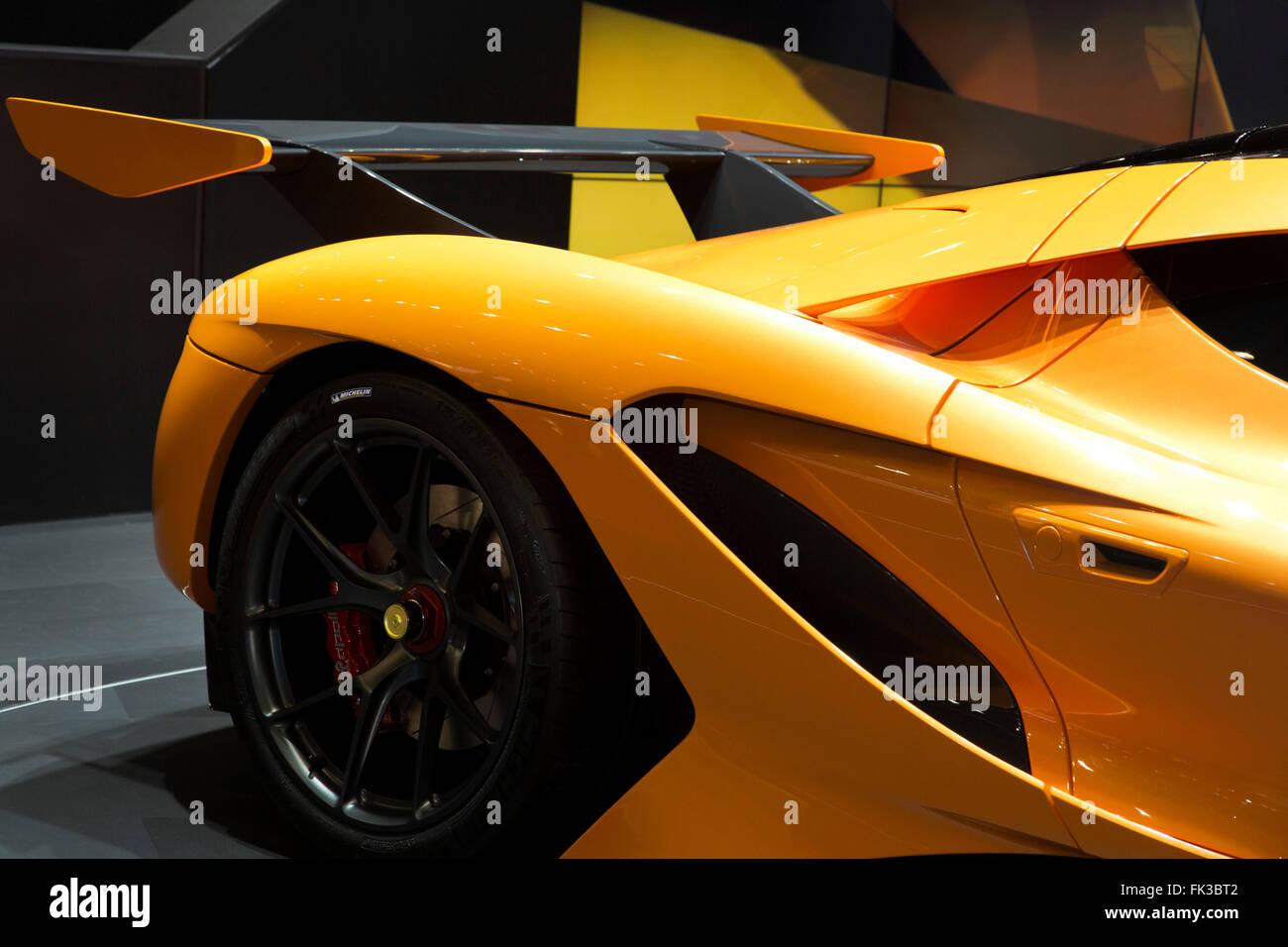 Apollo Arrow supercar at the Geneva Motor Show 2016 - Stock Image