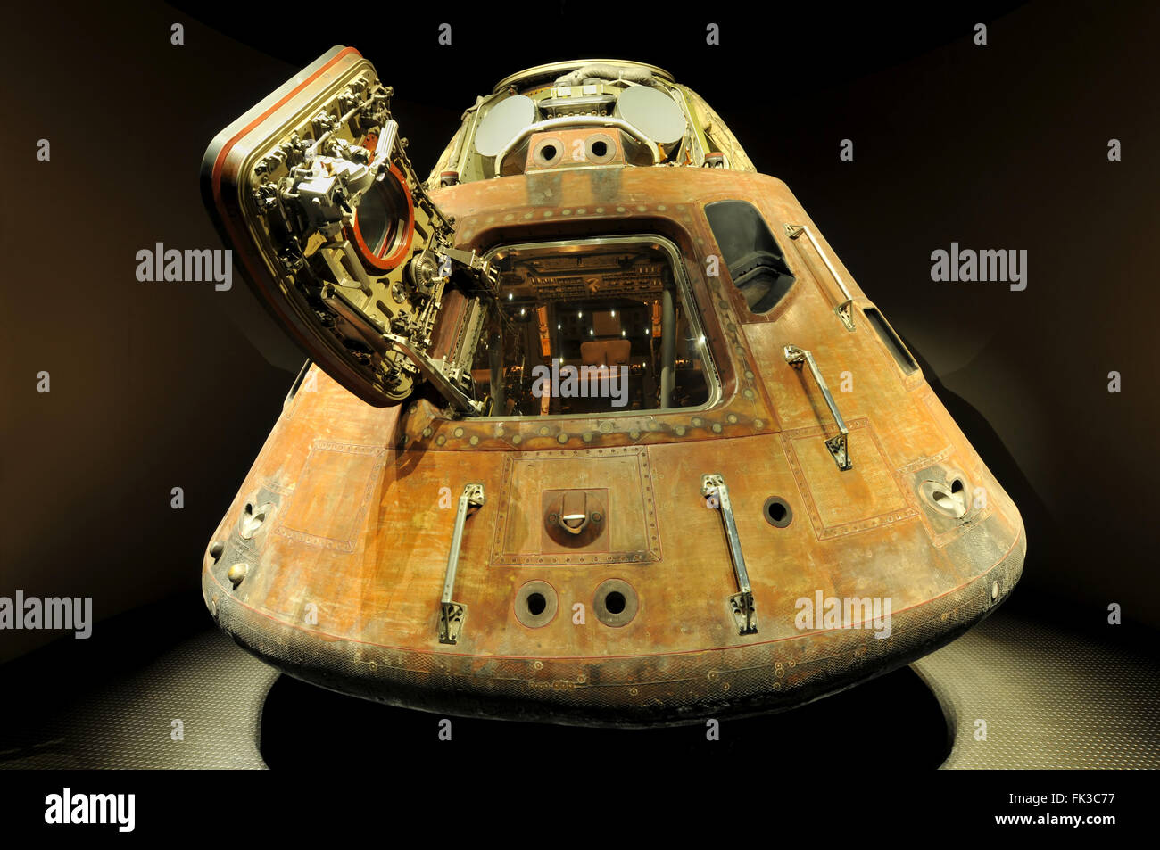 CAPE CANAVERAL, FL- DEC 28: Apollo 13 LEM capsule displayed at NASA, Kennedy Space Center in Florida, December 28, - Stock Image