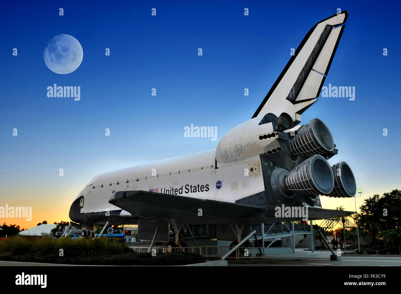 CAPE CANAVERAL, FL- DEC 28: The Space Shuttle Explorer displayed at NASA, Kennedy Space Center in Florida on December - Stock Image