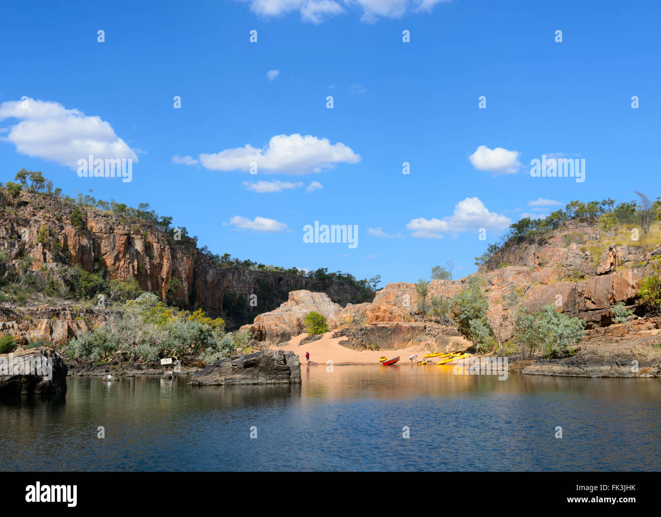 Kayaks in Katherine Gorge, Northern Territory, Australia - Stock Image