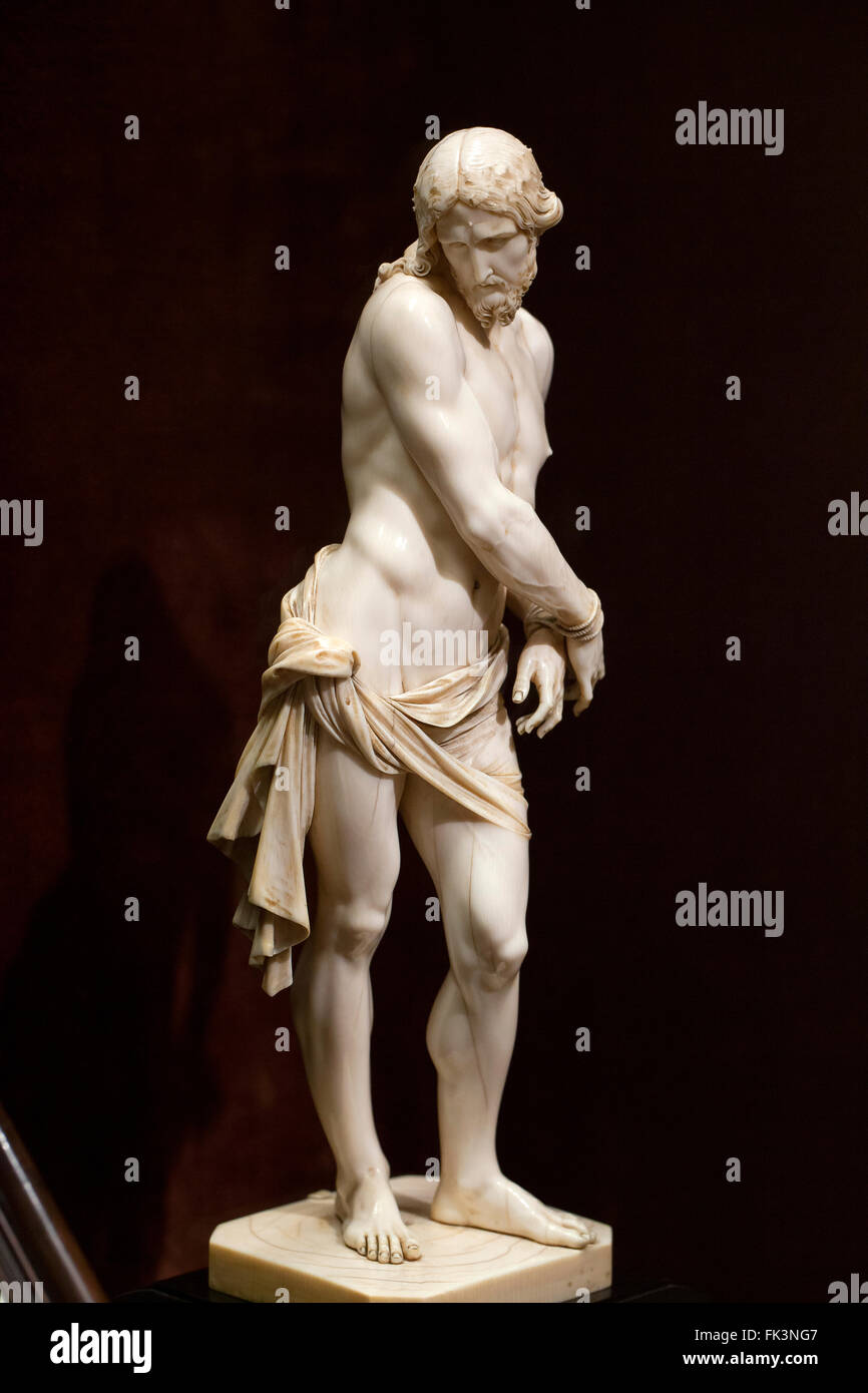 Christ Bound ivory sculpture by Francois Duquesnoy, circa 1620s - Stock Image