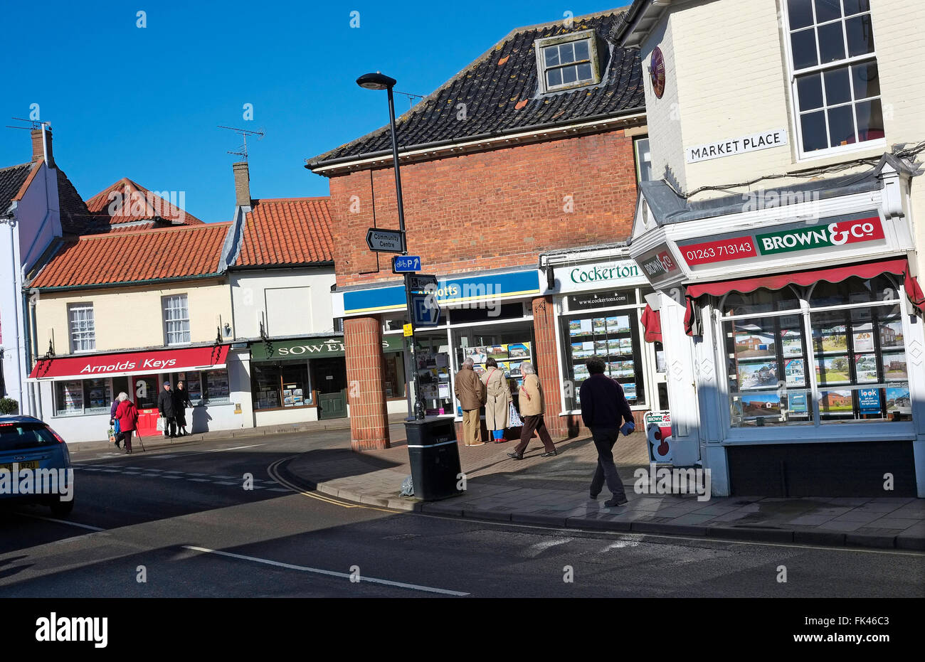 estate agents in holt, north norfolk, england Stock Photo
