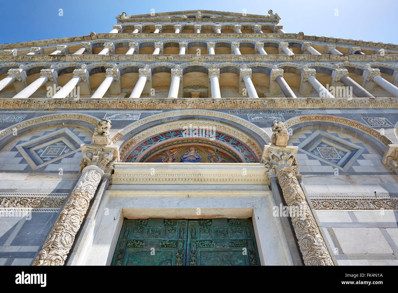 ITALY PISA ARCHITECTURE ARCHITECTURAL DETAIL Stock Photo