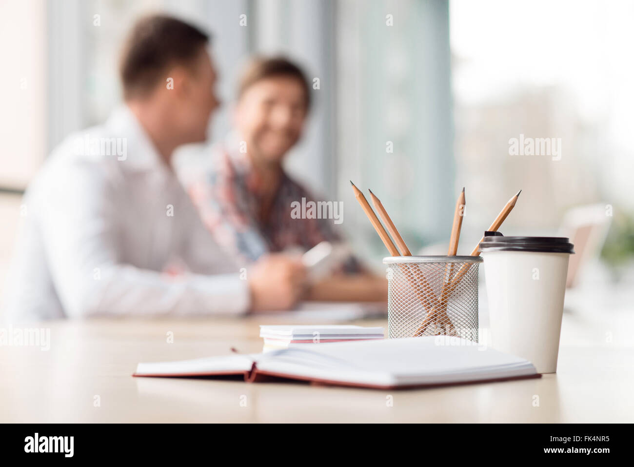 Stationary lying on the table - Stock Image