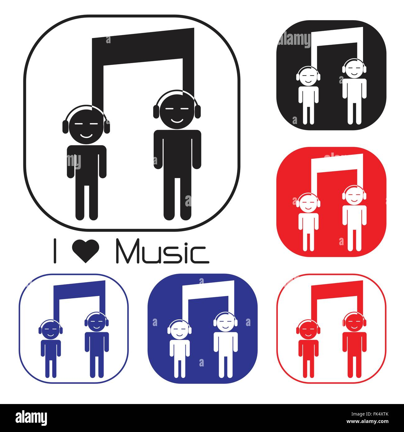 Creative Music Note Sign Icon And Silhouette People Symbol Musical