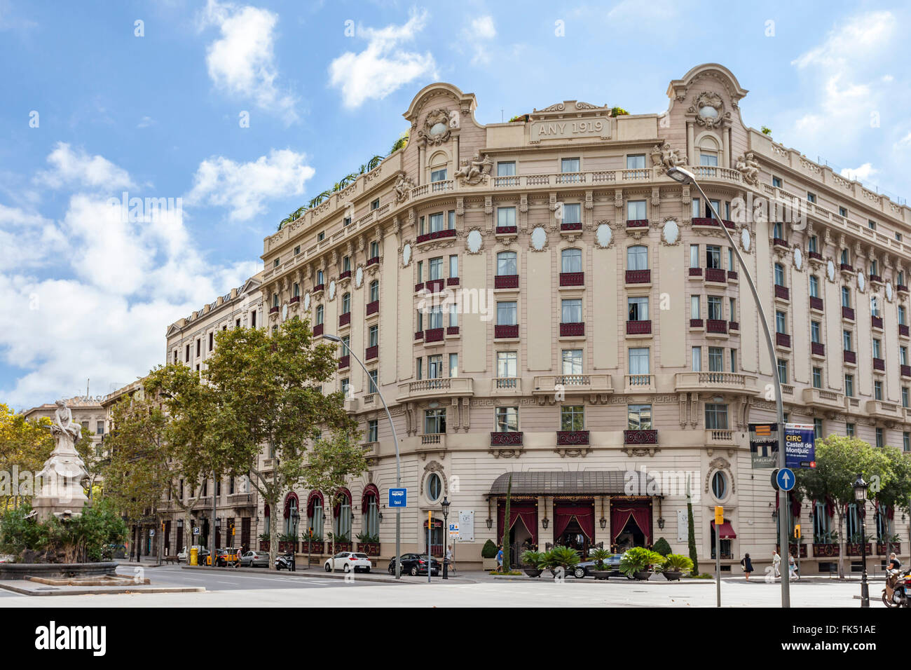 Hotel Palace, for years was the Hotel Ritz. Gran Vía, Barcelona. - Stock Image