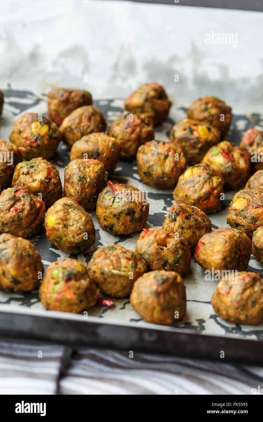 Vegetarian balls - Stock Image