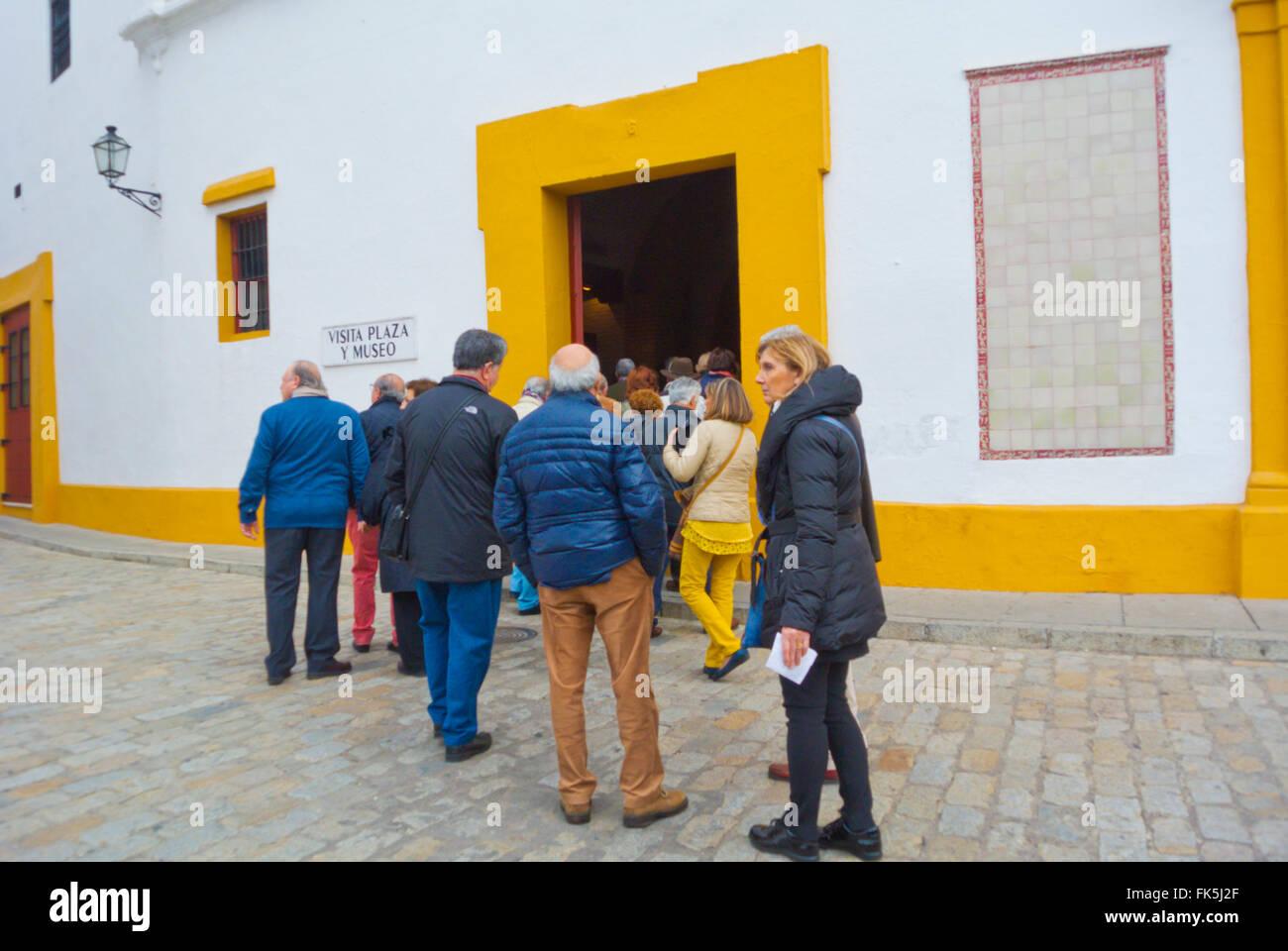 Bullfighting museum, Plaza de toros de la Real Maestranza de Caballería, Sevilla, Andalucia, Spain - Stock Image