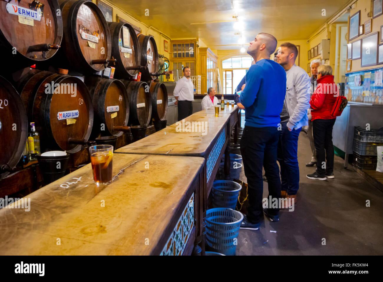 Antigua Casa de Guardia, wine bar, Malaga, Andalucia, Spain - Stock Image