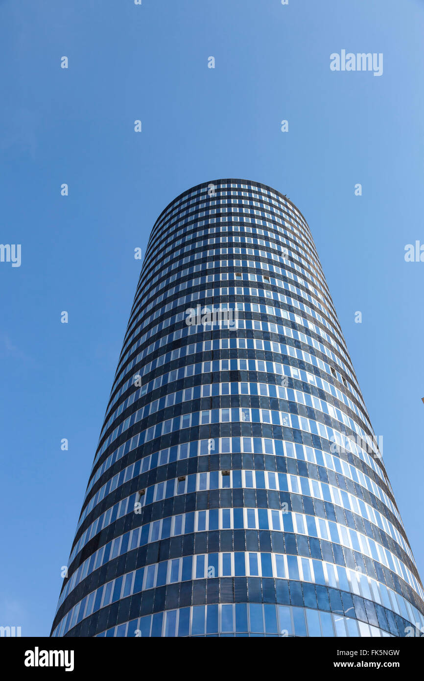 Jentower in Jena (germany) against the blue sky - Stock Image