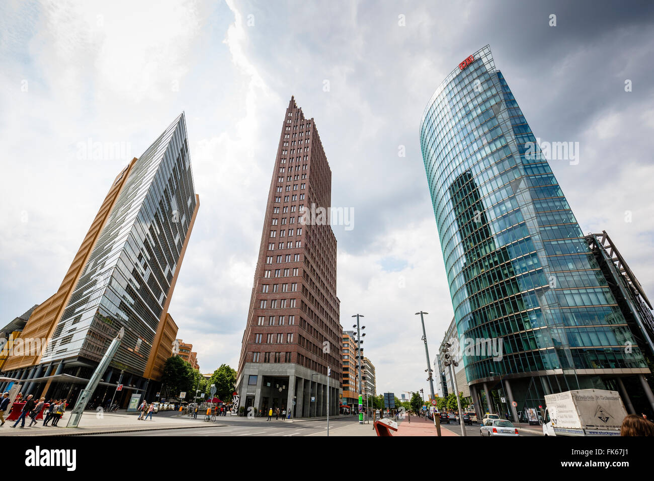 Buildings on Potsdamer Platz, Mitte, Berlin, Germany, Europe - Stock Image