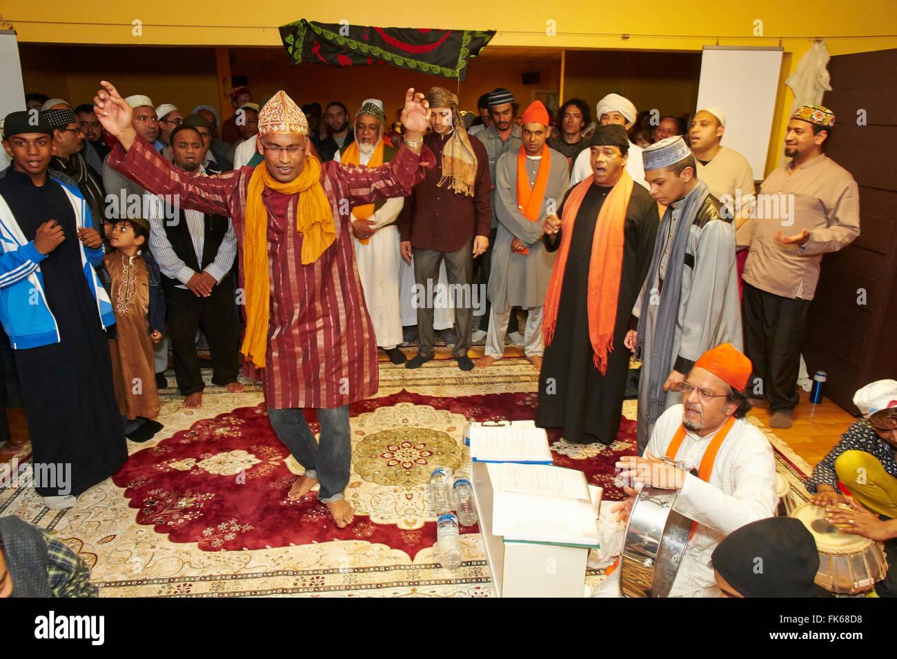 Sufi dikhr in Paris, France, Europe - Stock Image