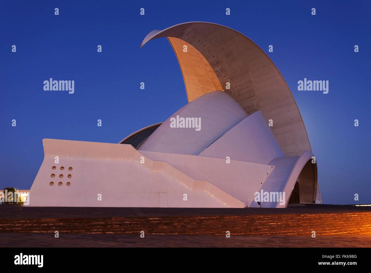Auditorium by the architect Santiago Calatrava, Santa Cruz, Tenerife, Canary Islands, Spain, Europe - Stock Image
