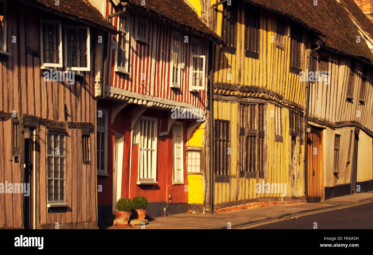 Medieval buildings in Lavenham, Suffolk, England, United Kingdom, Europe - Stock Image