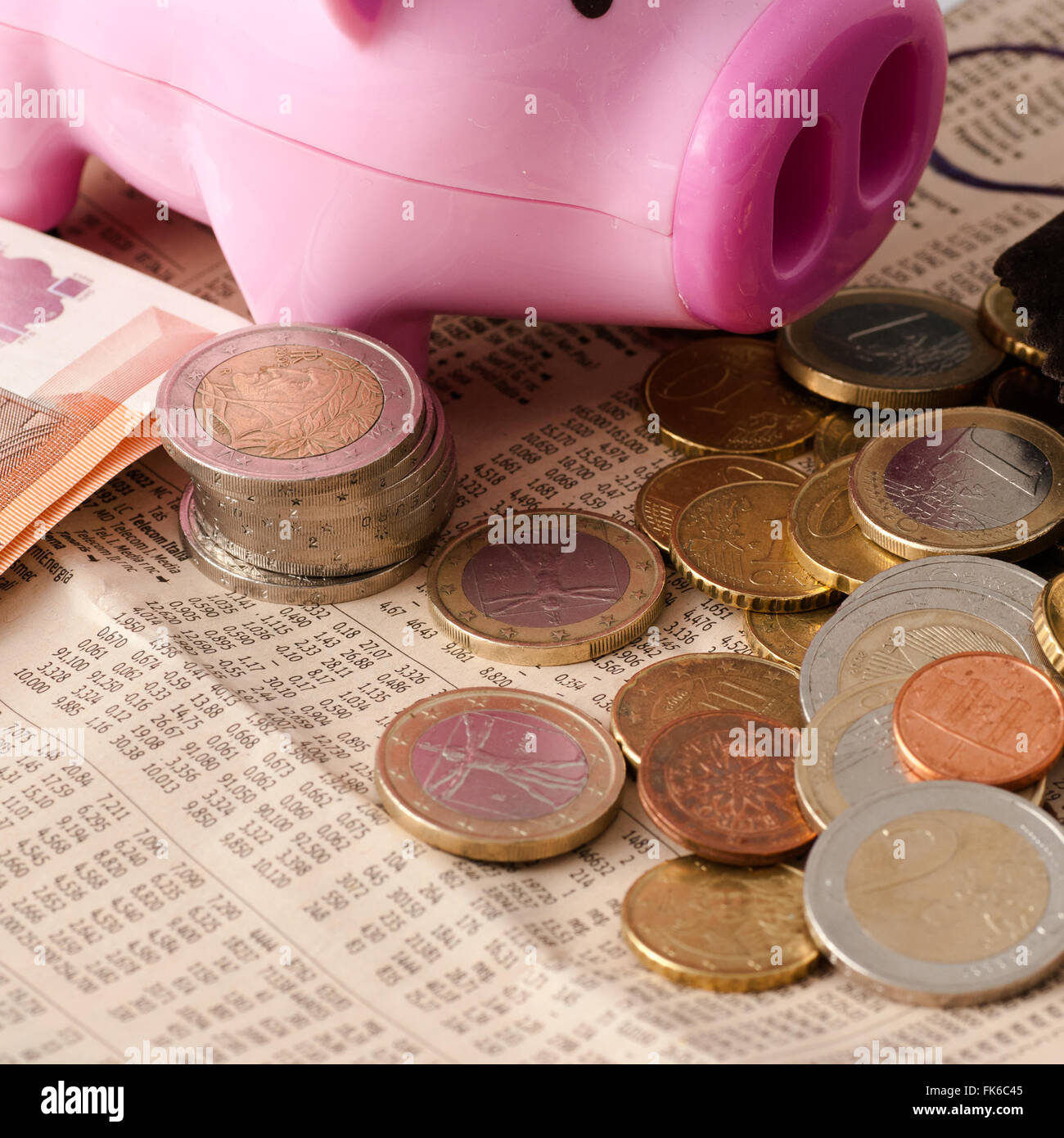 doubling of money saved - Stock Image