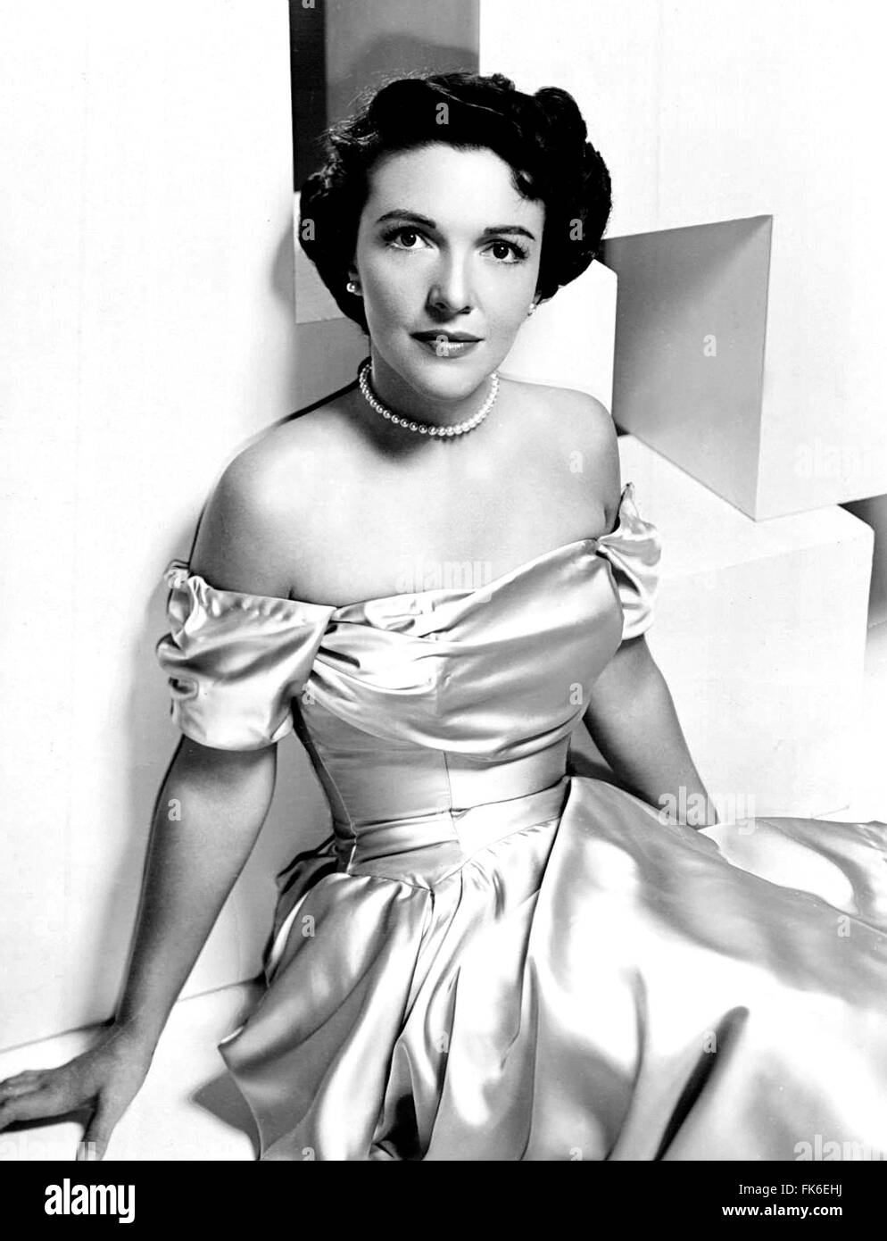 Former First Lady Nancy Reagan in a publicity photo when she was a actress under her maiden name of Nancy Davis - Stock Image